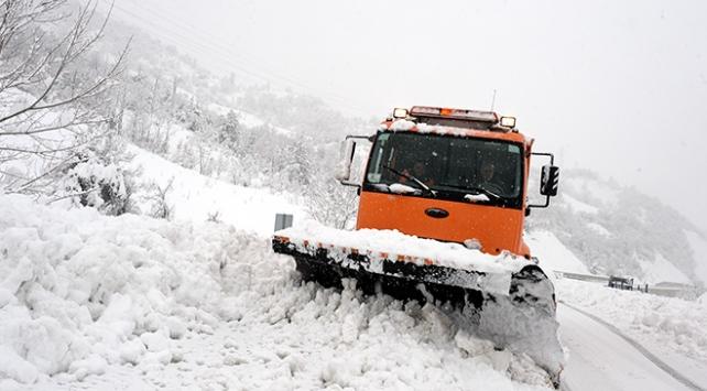 Bingölde kar ve tipi köy yollarını kapattı