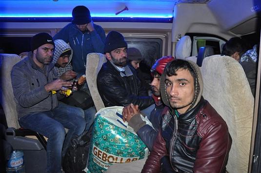 Çanakkalede 118 yabancı uyruklu yakalandı
