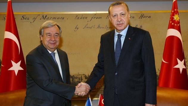 Cumhurbaşkanı Erdoğan, BM Genel Sekreterini kabul etti