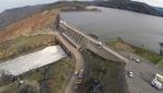 ABDde delinen baraj çalışmaları havadan görüntülendi