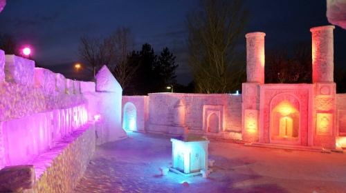 Kardan yapılan EYOF Kültür Sokağı açıldı