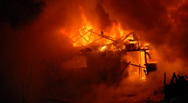 Kocaelide alabalık çiftliği cayır cayır yandı