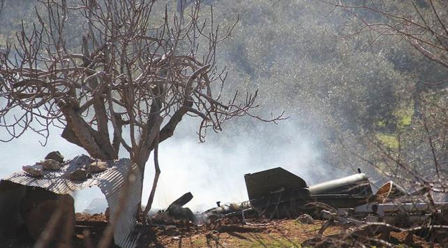 İdlibde yerleşim yerine füze düştü