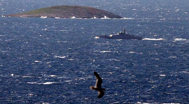 Türk savaş gemisi Kardakta devriye görevi yaptı