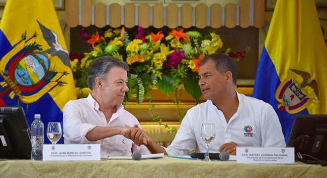 Kolombiya ile Ekvador arasında 5. Ortak Bakanlar Kurulu toplantısı yapıldı