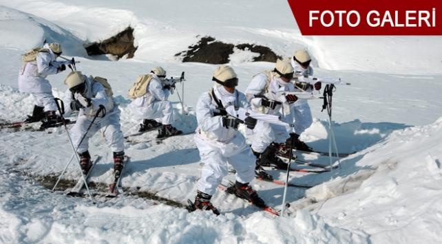 TSKdan eksi 25 derecede Kış Tatbikatı