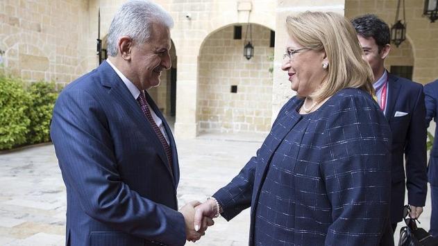 Başbakan Yıldırım Maltada temaslarına başladı