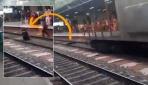 Üstünden tren geçti...