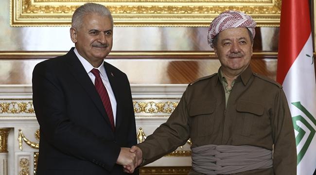 Başbakan Yıldırım, IKBY Başkanı Barzani ile görüştü
