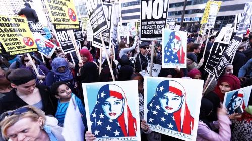 """ABDde """"Bugün ben de Müslümanım"""" eylemi"""