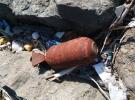Deniz kenarında patlamamış mühimmat bulundu