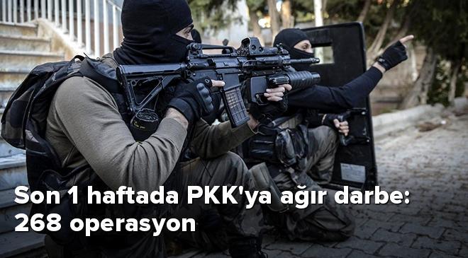 Son 1 haftada PKKya ağır darbe: 268 operasyon