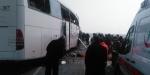 İki yolcu otobüsü çarpıştı: 8 ölü, 28 yaralı