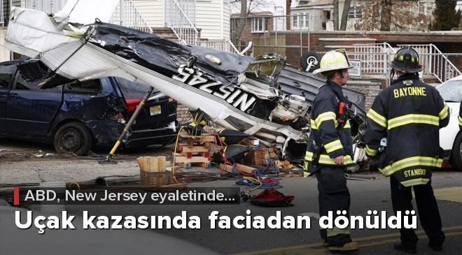 ABDdeki uçak kazasında faciadan dönüldü