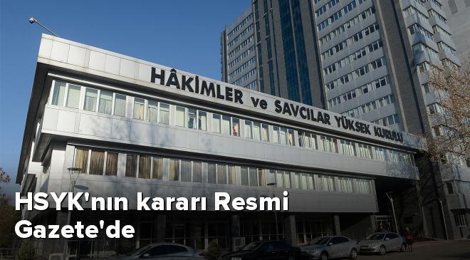 HSYKnın kararı Resmi Gazetede