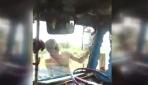 Çılgınlıkta sınır tanımayan kamyoncu!