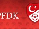 İki takım PFDK'ya sevk edildi