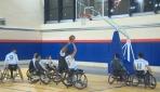 Azmiyle engelleri aşan basketbol oyuncuları