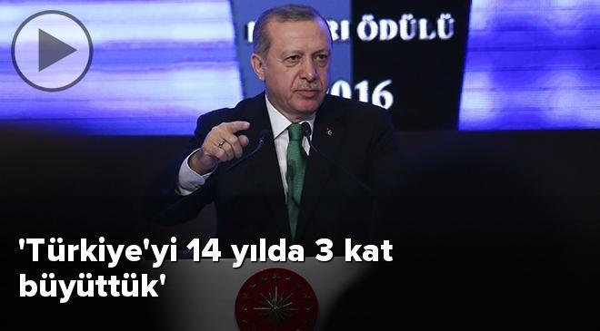 Türkiyeyi 14 yılda 3 kat büyüttük