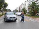 Yaya öncelikli caddede denetimler artırıldı