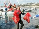 Bodrum'da deniz dibi ve kıyı temizliği