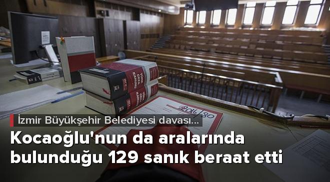 İzmir Büyükşehir Belediyesi davasında tüm sanıklar beraat etti