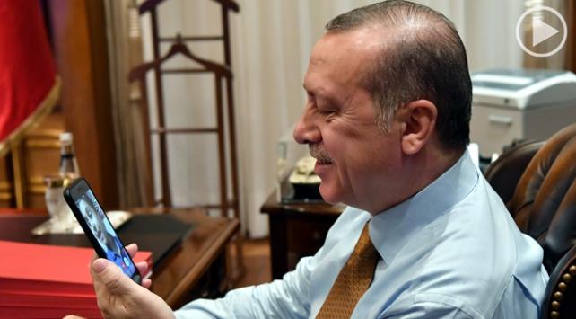Cumhurbaşkanı Erdoğan lösemi hastası küçük Bedirhan ile görüştü