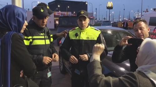 Hollandada TRT aracının durdurulma anı
