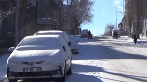 Karsta yollar buz pistine döndü