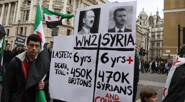 Londrada Suriye yürüyüşü