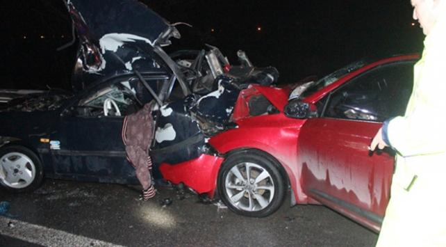TEM otoyolunda feci kaza: 8 yaralı
