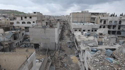 AA ekibi, El Babı havadan görüntüledi