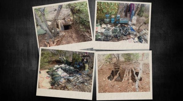 Bitlis ve Bingölde 3 sığınak imha edildi