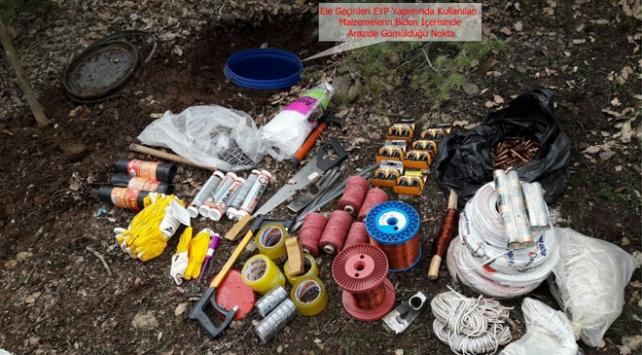 PKKnın çok sayıda silah ve mühimmatı ele geçirildi