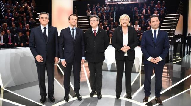 Fransada cumhurbaşkanı adayları açık oturumda kozlarını paylaştı
