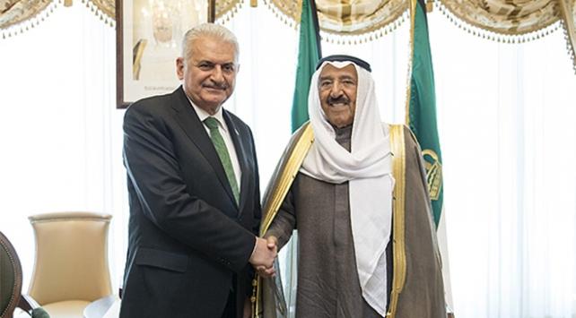 Başbakan Yıldırım Kuveyt Emiri Al Sabah ile görüştü