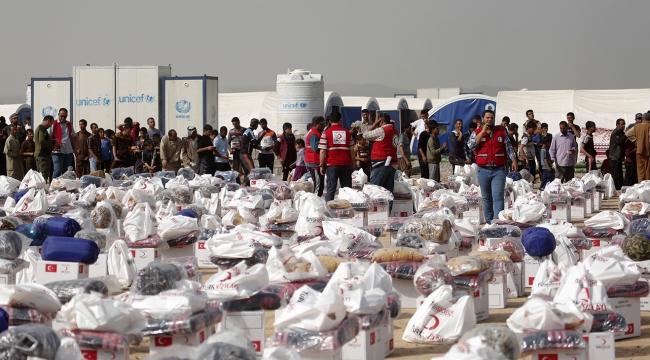 Türk Kızılayından Musulda 300 aileye insani yardım