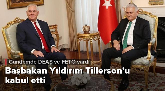 Yıldırım ile Tillerson DEAŞ ve FETÖyü görüştü