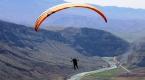 Siirtli gençlerden yamaç paraşütüne ilgi