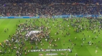 Olympique Lyon - Beşiktaş maçında stat içinde olaylar