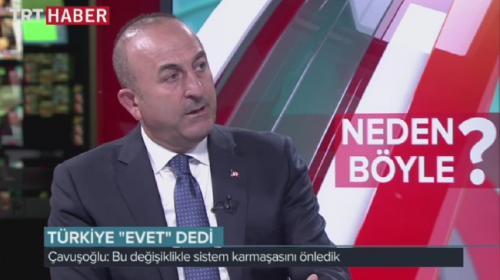 Bakan Çavuşoğlu TRT Haber'in konuğuydu