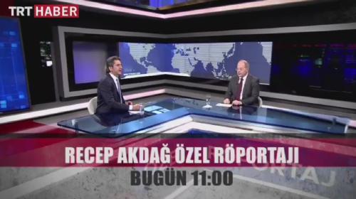 Sağlık Bakanı Akdağ, TRT Haberde