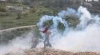 Batı Şeriada açlık grevi yapan Filistinli tutuklulara destek gösterisi