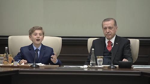 Cumhurbaşkanı Erdoğanın çocukları kabulü