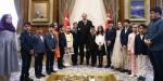 Cumhurbaşkanı Erdoğan, çocukları kabul etti