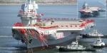 Çinin ilk yerli yapım uçak gemisi suya indirildi
