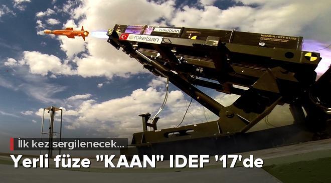 """Yerli füze """"KAAN"""" IDEF 17de"""