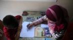 Türk çocuklarına Suriyeli gönüllü öğretmen