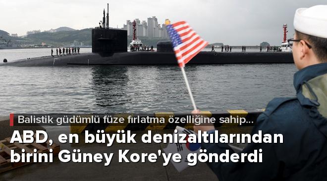 ABD, en büyük denizaltılarından birini Güney Koreye gönderdi