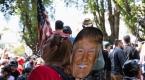Berkeleyde Trump destekçileri gösteri düzenledi